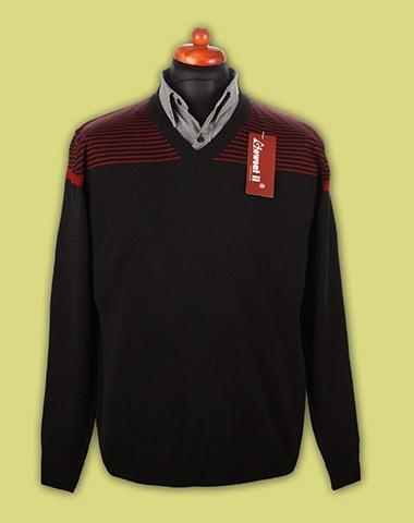 sweter w serek paski 4