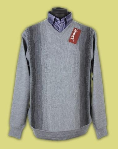 sweter w serek merynos 11