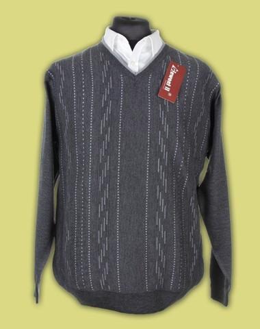 sweter w serek merynos 12