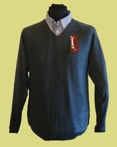 sweter w serek merynos 3