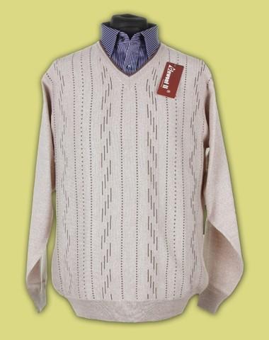 sweter w serek merynos 9