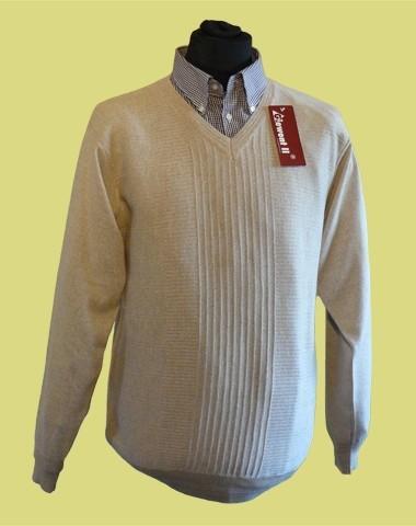 sweter w serek merynos