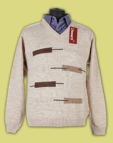 Sweter na guziki gruby