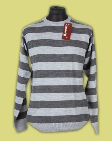 sweter półgolf paski 9