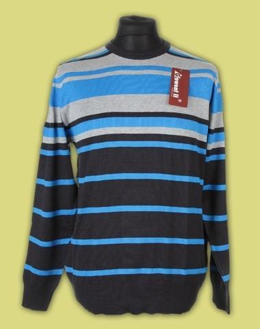 sweter półgolf paski